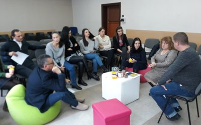 PEER TO PEER training at 119 Secondary School, Sofia Bulgaria